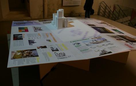habillage multimedia pour expo architecture