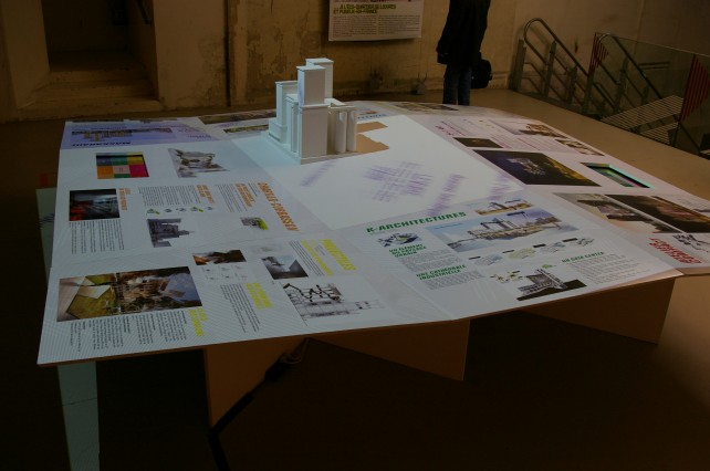 habillage multimedia pour expo architecture